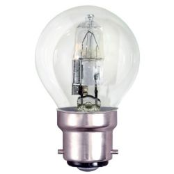 BELL 05221- 28W = 40W 240V BC/B22 Energy Saver Clear Round Golf Ball Lamp