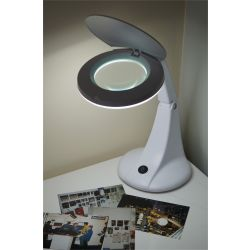Eagle Desktop LED Twin Arm Illuminated Magnifier With 4