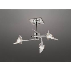 Mantra M0306 Flavia Semi Ceiling Round 3 Light G9, Polished Chrome