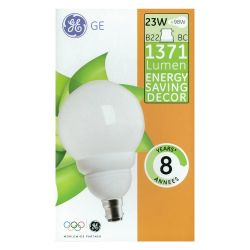 General Electric 23W 240V BC/B22 Low Energy Decor Globe Lamp