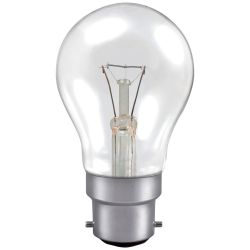 40W BC/B22 220-240V Dimmable Clear GLS A55 Warm White Light Bulb