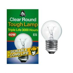 BELL 01791 - 40W 240V ES E27 Dimmable Warm White 45mm Round Clear Light Bulb