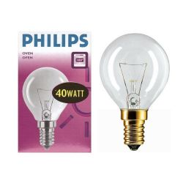 Philips 40W 240V SES E14 300 degree Oven Bulb