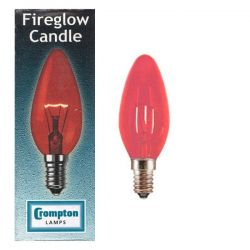 Crompton Lamps 40w Fireglow SES E14 Small Edison Screw Candle