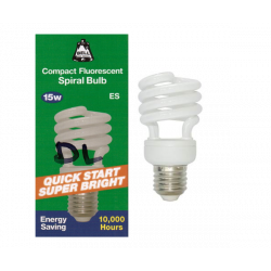 BELL 04938 Energy Saver 15W = 75W ES E27 Spiral CFL Daylight 865