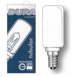 Duralamp 40W 230V JDD E14 Tubular Double Glass Frosted Bulb