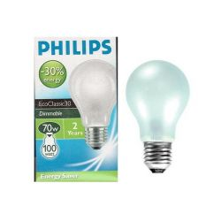 Philips EcoClassic30 70W 240V ES E27 Opal GLS Light Bulb