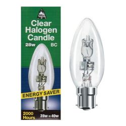 BELL 05200 28W 240V BC B22 Energy Saver Halogen Candle equiv. to 37W