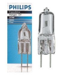 Philips Capsuleline Halogen 35W 12V GY6.35 2-pin Clear Halogen Capsule Light Bulb 30x8mm