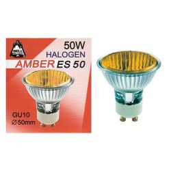 Bell Gu10 50mm Amber Halogen Lamp