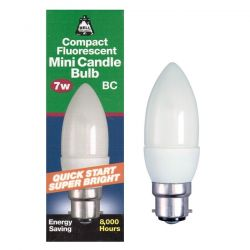 Bell Lighting 7 Watt BC B22 Compact Fluorescent Candle Bulb