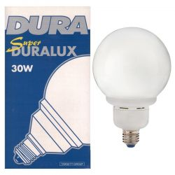 Dura 30 Watt ES E27 Energy Saving Globe
