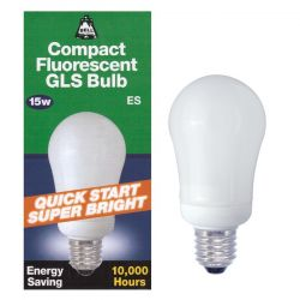 BELL 00754 15W 240V ES E27 Warm White Energy Saver Bulb