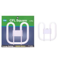 Bell 16w 4 Pin Gr10q 2d Compact Fluorescent Square (COOL White)