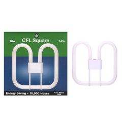 BELL 04132 - 28W 2 Pin GR8 2D Compact Fluorescent Square, Cool White 4100K