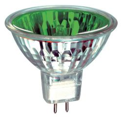 Prolite MR16 True Colour Dichroic Green 12V 20W Halogen Spot Lamp, 12 degree beam