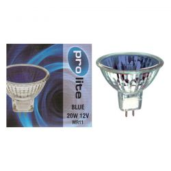 Pro Lite 20w 12v MR11 Dichroic Blue 12° Spot Lamp