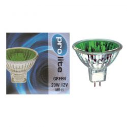Pro Lite 20w 12v MR11 35mm M251 20° Dichroic Green Spot Lamp