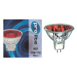 Prolite 20W 12V MR11 35mm 12° Dichroic Red Spot Lamp