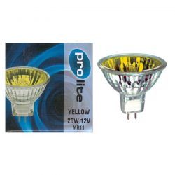 Prolite 20W 12V MR11 35mm 12° Dichroic Yellow Spot Lamp