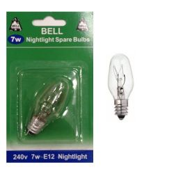 BELL 02393 7W CES 240V E12 Nightlight Spare Light Bulb