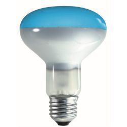Crompton R80 ES E27 240V 60 Watt Blue 80mm Reflector Lamp