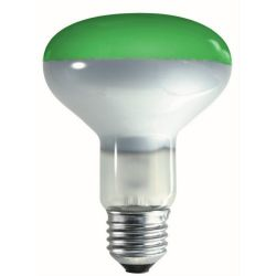 Crompton R80 ES E27 240V 60W 80mm Green Reflector Lamp