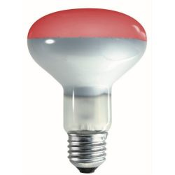 Crompton R80 ES E27 60 Watt Red Reflector Lamp