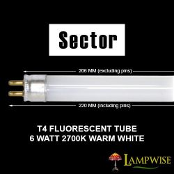 Sector / Robus 6W 206mm x 12mm T4 Fluorescent Tube