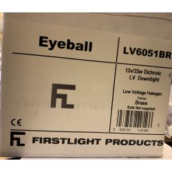 Firstlight LV6051BR 12v 35w MR11 Brass Eyeball spot with lamp holder