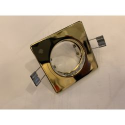 FIRSTLIGHT  Low voltage 12v 50w dichroic square polished brass downlight