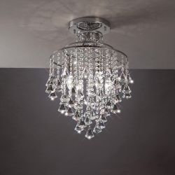 Diyas IL30770 Inina Polished Chrome/Crystal 4 Light Ceiling Light