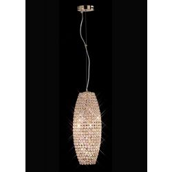 Diyas IL30765 Kos French Gold/Crystal 4 Light Pendant Light