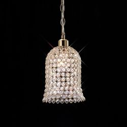 Diyas IL30760 Kudo French Gold/Crystal Non-Electric Bell Shade