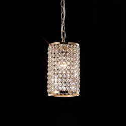 Diyas IL30761 Kudo French Gold/Crystal Non-Electric Cylinder Shade