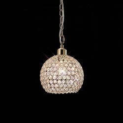 Diyas IL30762 Kudo French Gold/Crystal Non-Electric Ball Shade