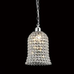 Diyas IL60001 Kudo Polished Chrome/Crystal Non-Electric Bell Shade