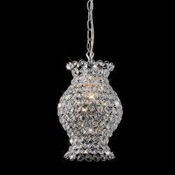 Diyas IL60006 Kudo Polished Chrome/Crystal Non-Electric Crystal Vase Shade