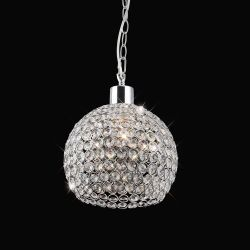 Diyas IL60007 Kudo Polished Chrome/Crystal Non-Electric Crystal Ball Shade