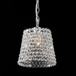 Diyas IL60008 Kudo Polished Chrome/Crystal Non-Electric Crystal Lamp Shade