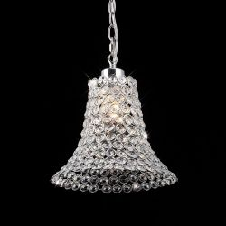 Diyas IL60010 Kudo Polished Chrome/Crystal Non-Electric Crystal Cone Shade