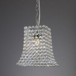 Diyas IL60019 Kudo Polished Chrome/Crystal Non-Electric Crystal Curved Trapezium Shade