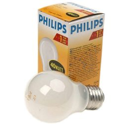Philips 40W ES/E27 230V Dimmable Opal GLS A55 Warm White Light Bulb
