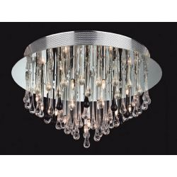 Firstlight 3321CHBK Perla 20 Light Flush Fitting