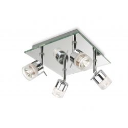 Firstlight 6097CH Ocean 4 Light Flush Ceiling Light