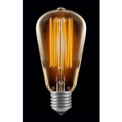 Nordlicht 10511 60W 240V ES/E27 Vintage Antique Squirrel Cage ST64 Lamp
