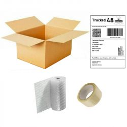"""Large Box 24x18x18"""" includes Prepaid Lampwise Return Mailing Label / 5m of Bubble Wrap / Roll of Tape"""