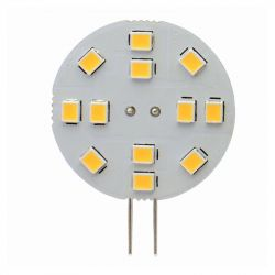 LED Flat 30mm Round G4 2W 12V 3000K 190lm Warm White
