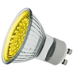 Globo 1.1w 240v LED GU10 Yellow Coloured Spot Lamp