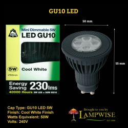 Bell 5w Led Gu10 Cool White (DIMMABLE)